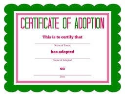 Adoption-certificate